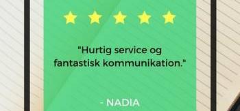 God oplevelse med korrektur på dansk