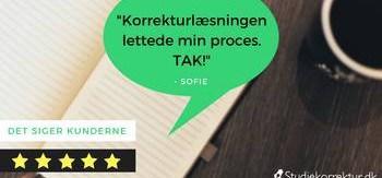 God oplevelse med korrekturlæsning på dansk